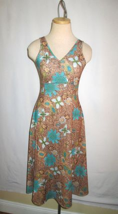 Cute tank dress Floral Flowers vintage by FlashbackVintageShop, $28.00 #dress #vintage #etsy #fashion #cute