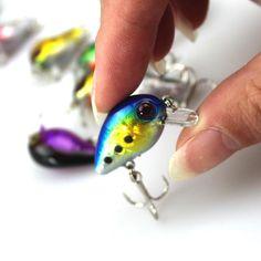 1PCS 3cm 1.5g Mini Crazy Wobble Pesca Crankbait Hard Crank Bait Tackle Artificial Fishing Lure Swimbait Fish Japan Wobbler CB004