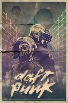 Daft Punk Tribute by Segap (France) Daft Punk Poster, Home Music, Dj Music, Sketch Manga, Electro Music, Music Artwork, Funny Tattoos, Punk Art, Cool Posters