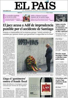 Los Titulares y Portadas de Noticias Destacadas Españolas del 21 de Agosto de 2013 del Diario El País ¿Que le pareció esta Portada de este Diario Español?