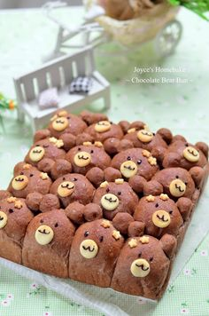Joyce's Home Bake: Chocolate Bear Bun 巧克力熊寶貝小餐包