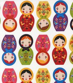 Novelty Cotton Fabric-Matryoshka