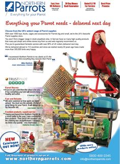 #throwbackthursday This was an advert we had in Parrots Magazine in September 2014.