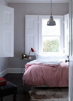 Solid Shutters White House Hotel Dayleford, Remodelista Bedroom Shutters, Interior Window Shutters, Gray Bedroom, Bedroom Decor, Shutters Inside, White Shutters, Bedroom Windows, Bedroom Ideas, Master Bedroom