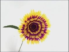 How to Making paper shrugged gerberas 2016 from crepe paper | Craft Tuto...