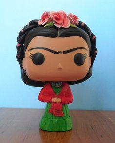 Frida Kahlo Custom Funko Pop Vinyl Figurine by boopstoof on Etsy