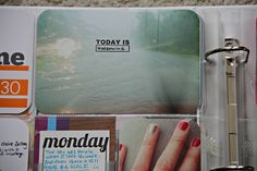 """project life // @Elizabeth Lockhart Thompson excellent use of the """"today is"""" stamp by @elise blaha cripe"""