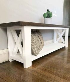 Straightforward DIY Wood Furniture Projects Tips - Painless DIY Woodworking Systems - The Options - Constant Improve Diy Furniture Projects, Home Projects, Diy Wood Projects, Diy Bank, Rustic Bench, Farmhouse Bench, Diy Wood Bench, Diy Bench Seat, Build A Bench