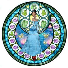 Princess Tiana - Kingdom Hearts Stain Glass by reginaac57.deviantart.com on @deviantART