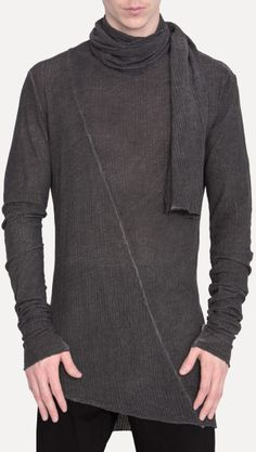 Lost & found 16.315.111 Scarf Top in Black for Men  lyst.com