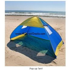 Deluxe Royal Blue Pop Up Tent Beach Cabana Tent Family Sun Shade Portable Shelter with Windows $34.75