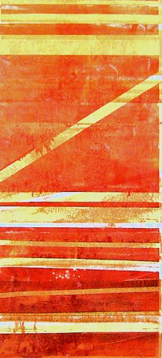 "Monotype print by April Jordan.  ""Bands of Colors"""