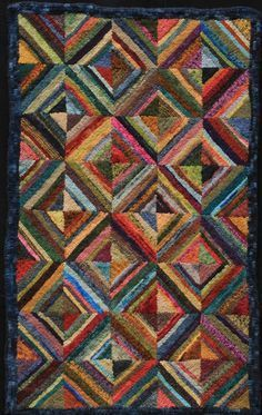 Rug Hooking Designs Patterns Geometric Woven