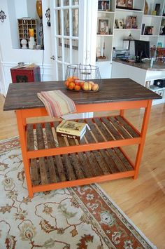 Kitchen Island :: just not orange...!