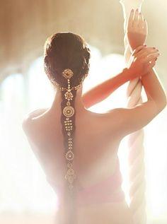 Hair accessories jewelry  braid  Keywords: #bridalhairaccessories #jevelweddingplanning Follow Us: www.jevelweddingplanning.com  www.facebook.com/jevelweddingplanning/