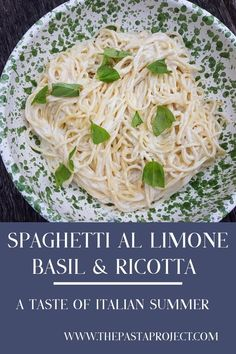 This spaghetti al limone has a wonderful fresh summer taste, with an intense lemony flavour. Close your eyes and you can even imagine you are eating it sitting on a terrace overlooking the sea on the Amalfi coast or Capri! #lemons #allimone #spaghetti #authenticitalianpasta #italianpasta #italianrecipe #lemonpasta #easyrecipe #ricottapasta #ricotta #thepastaproject @thepastaproject Italian Pasta Recipes, Best Italian Recipes, Great Recipes, Dinner Recipes, Noodle Recipes, Sauce Recipes, Skinny Pasta, Italian Lunch, Recipe Share