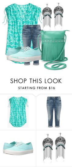 """""""Untitled #61"""" by southernsasschefashley ❤ liked on Polyvore featuring J.Crew, Silver Jeans Co., Vans and ILI"""