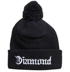 af31695bddfe2 Diamond Supply Co Diamond 4 Life Beanie Black Knit Beanie