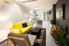 Bike racks at Stumble Upon | Interior Design Fair