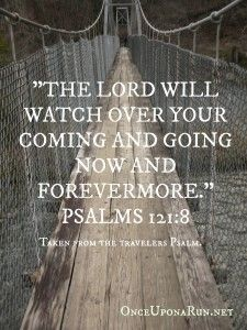 God, bible verse, inspirational quote, Psalms, God watching over us, wooden bridge, bridge, outdoors