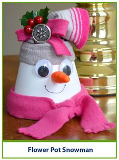Let's build a Snowman! Designer Dawn shows you how to make an adorable snowman with a flower pot.