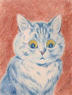 BLUE CAT by LOUIS WAIN
