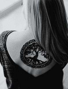 Tree tattoo (would love without the outer circle)