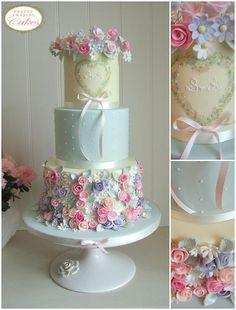 Wedding Cakes in Bristol, Gloucestershire, Cotswolds, Bath Whimsical Wedding Cakes, Pretty Wedding Cakes, Elegant Wedding Cakes, Wedding Cake Designs, Pretty Cakes, Beautiful Cakes, Amazing Cakes, Biscuit Decoration, Floral Cake