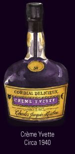 Creme Yvette is an ingredient in many classic cocktails that has been out of production for six decades and recently brought back in limited release.  It combines four berry fruits—mûre, framboise, cassis, and fraise sauvage— blended with dried violet petals.
