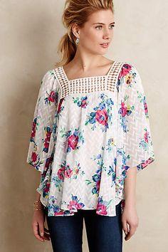 Treillage Kimono Blouse - anthropologie.com