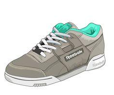 Illustration sneakers