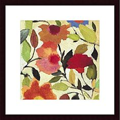 Kim Parker 'Begonias' Wood Framed Art Print | Overstock.com Shopping - Top Rated Prints. 2 prints for upstairs landing