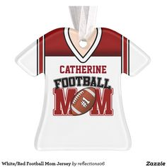 White/Red Football Mom Jersey