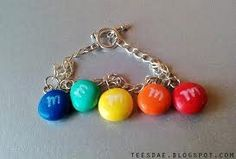 M polymer clay charms