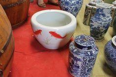 Large ceramic fish bowl from Beijing, China