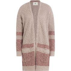 Day Birger et Mikkelsen Linen-Cotton Fes Knit Cardigan (€210) ❤ liked on Polyvore featuring tops, cardigans, rose, brown cardigan, rose cardigan, oversized knit cardigan, long sleeve knit cardigan and stripe cardigan