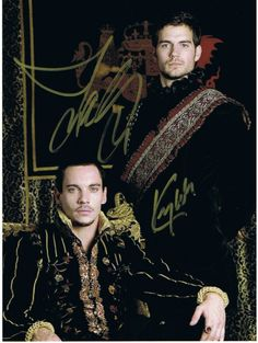 Jonathan Rhys Meyers / Henry Cavill (The Tudors) Signed 8x10 Autograph Photo - Certificate of Authenticity Included - Authentic Hand-Signed Autograph - $99 - #gift #celebrity #shopping