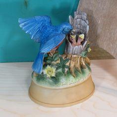Shafford Bluebird Feeding Baby Birds Bisque by 13thStreetEmporium, $18.00