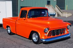 Just as clean as they get! 57 Chevy Trucks, Ford Pickup Trucks, Classic Chevy Trucks, Classic Cars, Chevy Stepside, Chevy Pickups, Chevrolet Apache, Jdm, Hot Rods