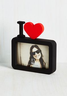 Close-up to Heart Photo Frame. They say that a picture is worth thousand words - but you only need a few symbols to express how you feel about the friends, family, or pets that are pictured in this delightful frame! #black #wedding #modcloth