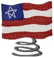 American Flag Spiral - 4x4   Primitive   Machine Embroidery Designs   SWAKembroidery.com HeartStrings Embroidery