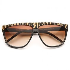 Cheap Novelty Sunglasses | Hartford Printed Flat Top Sunglasses | BleuDame.com