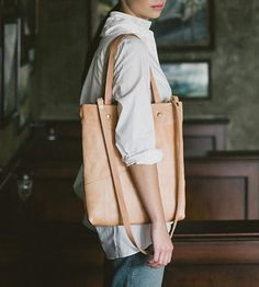Joni Leather Market Tote by Grey Goods on Scoutmob Shoppe