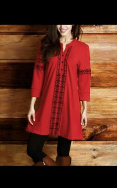 Reborn Collection Red and Black Tunic, Size M #RebornCollection #Tunic