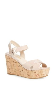 Prada 'Donna' Cork Sling Wedge (Women)