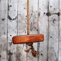 Rustic Tree Swing | dotandbo.com