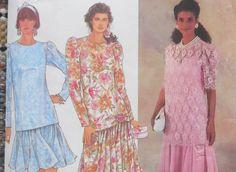 Simplicity 7061  Totally Retro Drop-Waist Dress  by Clutterina