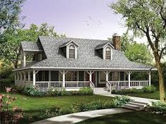 country homes with wrap around porchs - Google Search