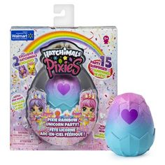 Hatchimals Pixies, Rainbow Unicorn Party with Collectible Doll and 2 CollEGGtibles (Styles May Vary), Multi-color Toys For Girls, Kids Toys, Rainbow Unicorn Party, 4th Of July Nails, Rainbow Roses, Colorful Party, Party Accessories, Gifts For Kids, Paper Crafts