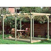 easy build deck pergola kit from diy Diy Pergola Kits, Diy Deck, Pergola Designs, Pergola Plans, Pergola Ideas, Pergola Attached To House, Deck With Pergola, Outdoor Pergola, Pergola Roof